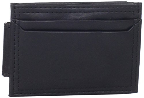Dockers Men's Front Pocket Wallet with Money Clip,Black Plaque
