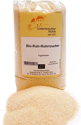 Bio-Roh-Rohrzucker 5 kg von der Gailertsreuther Mühle | Für die ganz besondere Süße in Ihren Speisen | Bio-Produkt hergestellt aus Rohrzucker aus Argentinien | Handwerkliche Verarbeitung | Beste Qualität aus der Natur (Roh-zucker)