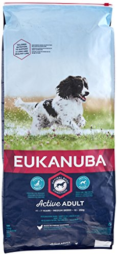 Eukanuba Adult Medium per Cani Adulti di Taglia Media - 12 kg