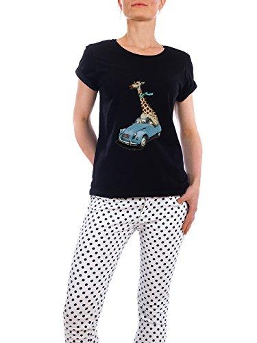 """Design T-Shirt Frauen Earth Positive """"Riding High (wordless)"""" - stylisches Shirt Tiere Natur von Rob Snow Schwarz"""