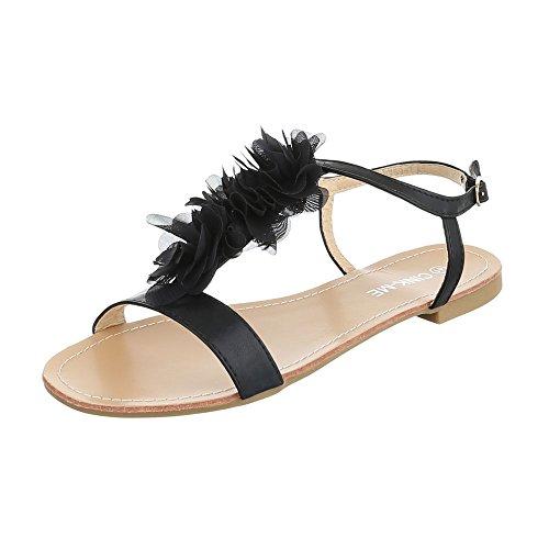 Ital-Design - Scarpe con cinturino alla caviglia Donna Nero