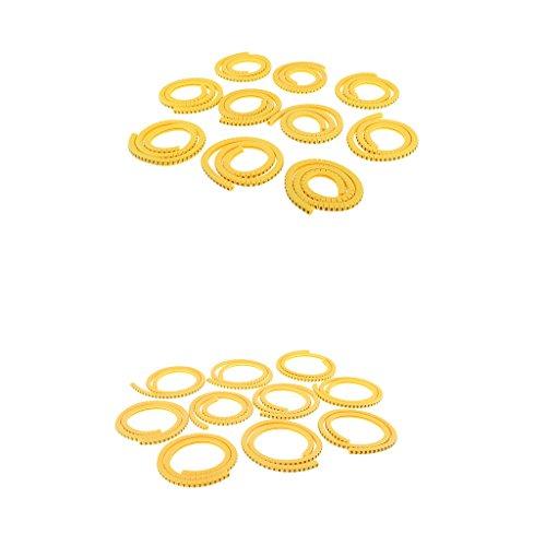 Preisvergleich Produktbild MagiDeal 2000 x Kabel Drahtmarkierer Identifikation Kabelmarkierungen Lables Tags Managment Nummer 0-9 - 1,5 mm² & 2,5 mm² Kabel