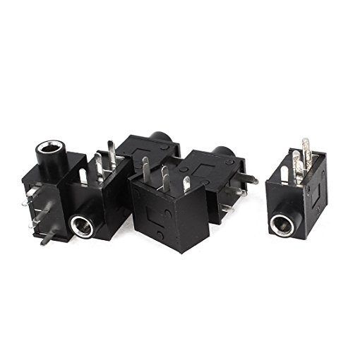41j9uekr0UL - BEST BUY #1 sourcingmap 6 Pcs 3.5mm Stereo Socket Audio Jack 5Pin PCB Panel Mount Connector Reviews and price compare uk