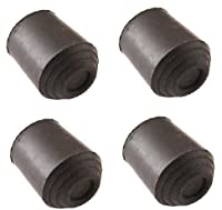 Rubber Walking Stick Ferrule 16mm (5/8'') - 4Pack Heavy Duty Cane Crutch Pad Bottom Protector End