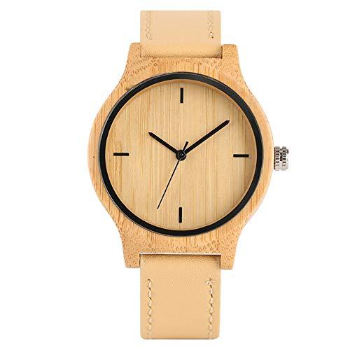 Handmade Natural Bamboo Wooden Quartz Wristwatches for Women