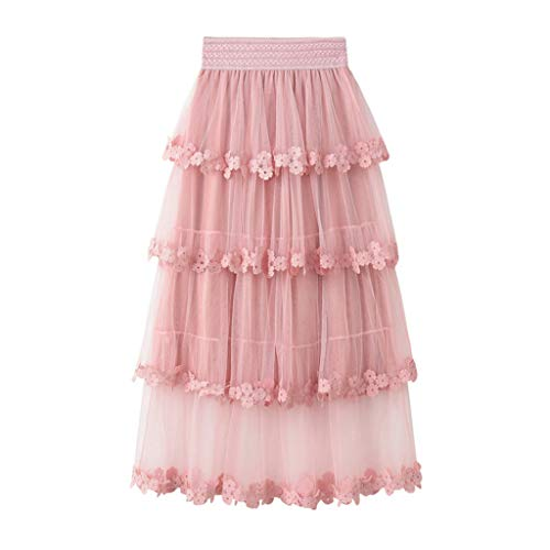 dd1c1c68b805 YWLINK Petticoat Underskirt Knee Length Maxi Skirts Monsoon for Women  Summer Girls Belted Stretch Waist Plain
