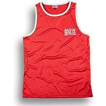 Benlee Rocky Marciano Amateur - Pantalones de boxeo para hombre, color rojo, talla XL