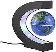 الكرة الارضية العائمة تطفو بفعل المغناطيس من كيتوي 3 انش مزوَّدة بمصابيح LED على شكل الحرف C، وتحوي خريطة العا