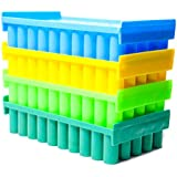 Labworld Test tube stand holder 50 holes for 12mm diameter tubes pack of 4 reversible type colorful for industrial…