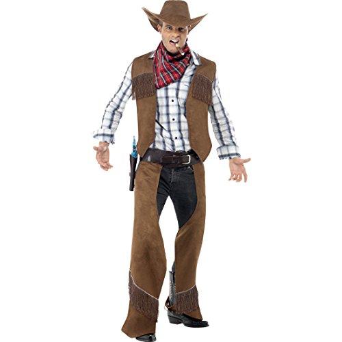 Amakando Cowboy Kostüm Herren Westernkostüm M 48/50 Cowboykostüm Western Verkleidung Wild West Outfit Wilder Westen Faschingskostüm