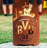 Garten Himmel BVB Borussia Dortmund Feuerkorb rund