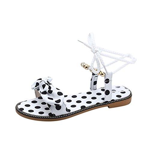 Damen Flip Flops, Xinan Sommer Plateauschuhe Holz Damen Sandalen Clog Holz Pantoffeln Schuhe (39, Weiß 3)