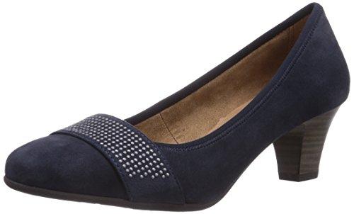 Jana 22300, Chaussures à talons - Avant du pieds couvert femme Bleu - Blau (DK. DENIM)