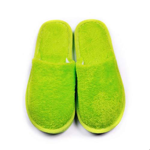 LQFLD Nichteintrümpfene Baumwollschuhe zu Hause Bonbons Farbe weich unterm Gastlichkeit slips-10 Paare,Green (Einweg-bonbons)