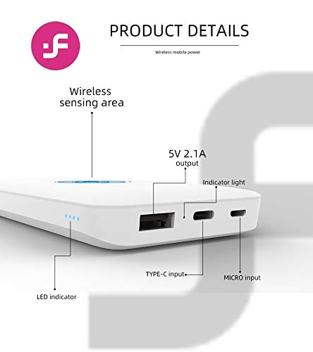 i-FiX Chrome 10000 Mah Wireless Power Bank with 2.4A Fast Charging Dual Ports with Type-C and Micro USB Charging Image 3