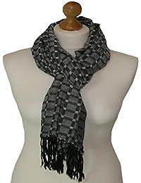GREY coloured viscose dobby scarf 838-G (GREY)