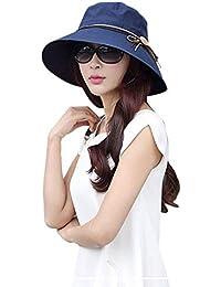 Mujeres Verano Sol Playa De Ancha Plegable ala Sombrero Modernas Casual para  El Sol Sombrero Anti 49f6604109a1