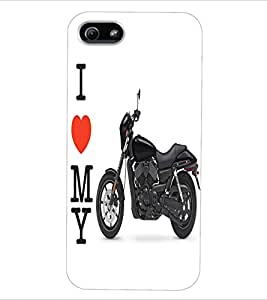 ColourCraft Bike Back Case Cover for APPLE IPHONE 5S