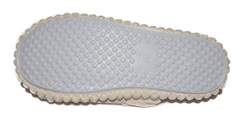 BTS -Weiche Plüsch Pantoffel mit Strickerei, Farben Beige - GR.: 36-41 - Made in EU Braun