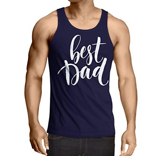 Weste Best Dad - Bester Vater - Vatertag, Weihnachten oder Geburtstagsgeschenk (XX-Large Blau Mehrfarben)