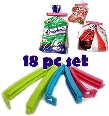 Quick Silver Plastic Food Snack Bag Pouch Clip Sealer, Multicolour