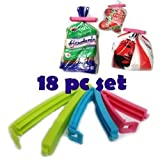 #4: Quick Silver Plastic Food Snack Bag Pouch Clip Sealer, Multicolour