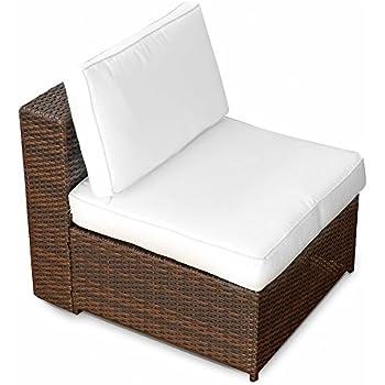 Polyrattan lounge sessel braun  Amazon.de: (1er) Polyrattan Lounge Möbel Sessel braun ...