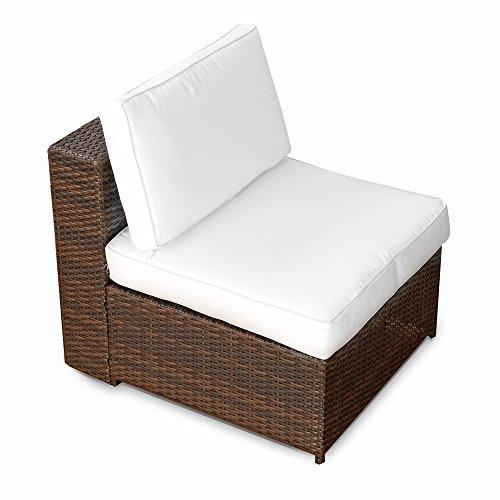 (1er) Polyrattan Lounge Möbel Mittel Sessel braun-mix – Gartenmöbel (1er) Polyrattan Lounge Mittel Sessel, Lounge Mittel Sofa, Lounge Mittel Stuhl – durch andere Polyrattan Lounge Gartenmöbel Elemente erweiterbar