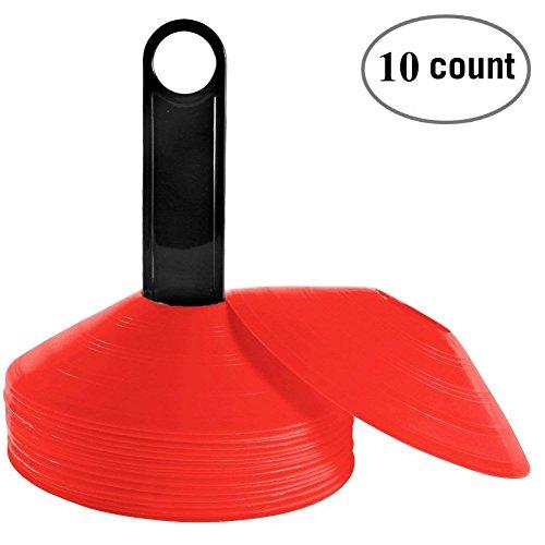 Balight Fußball Training Kegel, 10 Stücke Praxis Kegel Fußball, Feld Kegel Marker für Training, Fußball, Kinder, Sport