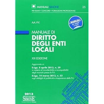Manuale Di Diritto Degli Enti Locali
