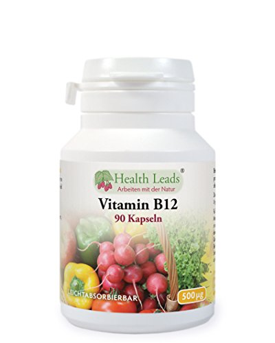 Vitamin B12 (Methylcobalamin) 500mcg 90 Kapseln, Ohne Magnesiumstearat
