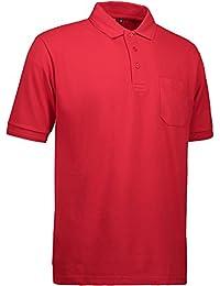Pionier 41083-5XL Poloshirt320 PRO Wear mit Tasche Gr/ö/ße 5XL in grau meliert,