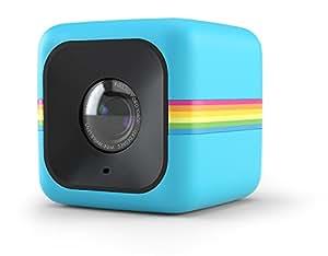 Polaroid Cube+ 1440p Mini Lifestyle Action Camera con Wi-fi e Stabilizzatore d'Immagine, Blu