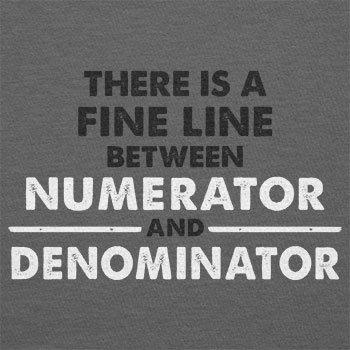 TEXLAB - Numerator Denominator - Herren T-Shirt Grau