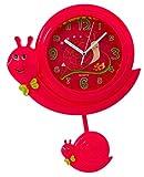 Schnecken Wanduhr mit Pendel in Rot