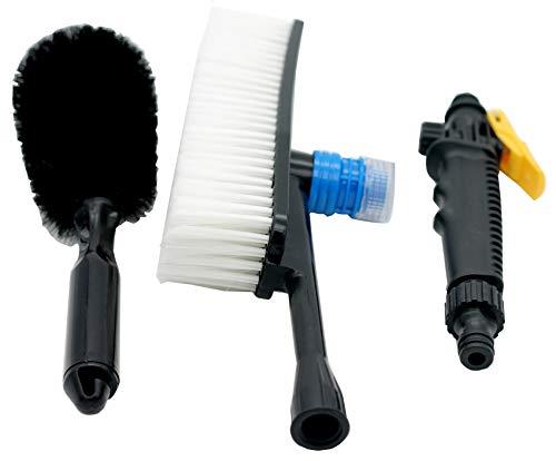 Universal-1pcs Auto-pp. Außenversenkbarer langer Handgriff-Wasser-Fluss-Schalter-Schaum-Flaschen-Reinigungs-Bürsten-Auto-Wäsche-Ausrüstung Heißer Verkauf