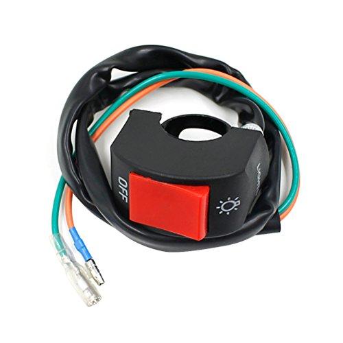 leorx Motorrad Lenker Halterung Scheinwerfer Nebelscheinwerfer Motor auf/aus-Schalter