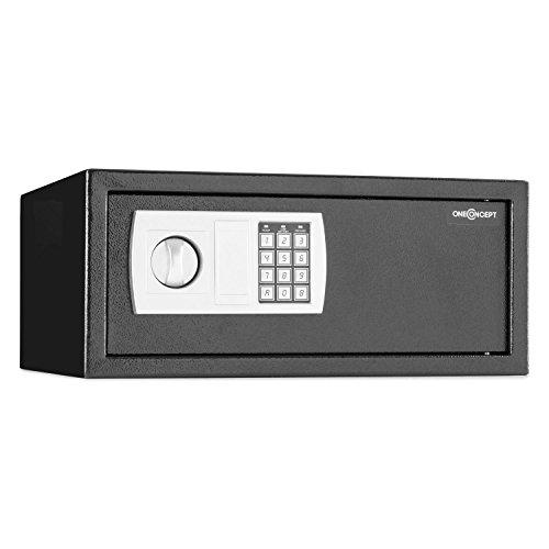 """oneConcept Hotelguard Laptopsafe Caja Fuerte Seguridad con combinación (Cerradura electrónica, Apto Montaje en Armario o Pared, Capacidad Ordenador portátil 17\"""") - 17\"""""""