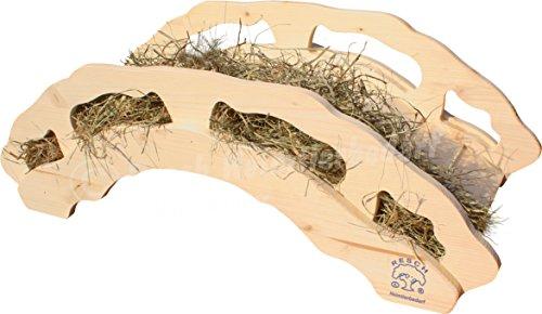 """Resch Nr30 Heubrücke naturbelassenes Massivholz aus Fichte / Große Brücke mit integrierter Heuraufe und einer """"Höhle"""" darunter / Sehr stabil - belastbar bis ca. 50kg"""