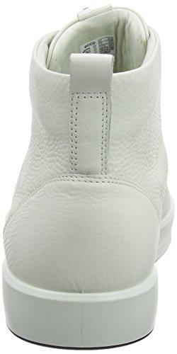 Ecco Soft 8 Mens, Baskets Hautes Homme Blanc (White)