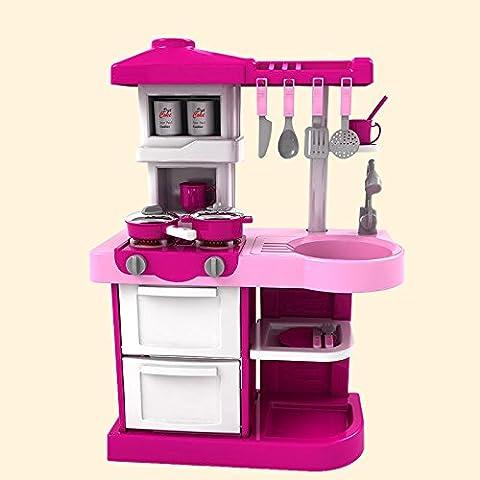 juguetes educativos de iluminación de plástico vajilla de cocina no tóxico seguro de la música a los niños determinados , pink