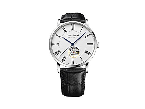 Louis Erard Excellence Automatic Watch, White, 40 mm, Leather, 62233AA10.BDC02