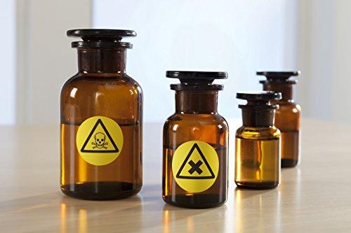 Avery Zweckform L6128-20 - Etiquetas (impermeables, diámetro 30 mm, 20 hojas, 960 etiquetas), color amarillo