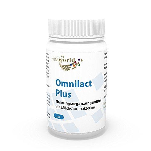 Vita World Probiotique Omnilact plus 60 Capsules Lactobacillus Bifidobacterium Made in Germany