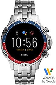 Fossil Garrett Hr Men's Multicolor Dial Stainless Steel Digital Smartwatch - FTW