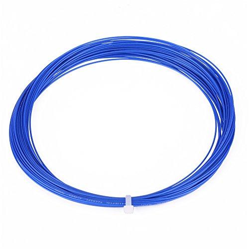 Alomejor Badmintonsaite Hohe Elastische Badminton String Langlebige Badminton Schnur mit Guter Haltbarkeit für Badmintonschläger Federballschläger (Blau)
