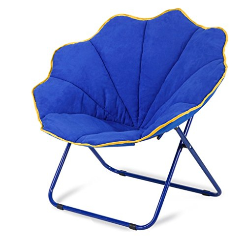 Blue Moon Stuhl Kreative Faul Wildleder Stoff Klapp Sun Liegen Waschbar Einzigen Recliners Sofa Bett Stühle Weich Gepolsterte Stuhl Leicht (Eisen Park-designs,)
