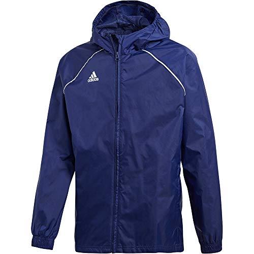 adidas Kinder CORE18 RN Jacket, Dark Blue/White, 7-8 Years