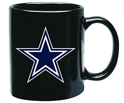 Dallas Cowboys NFL Offizielle Tasse, Becher, Kaffeetasse Black Glossy Groß 425 ml (Dallas Cowboys Keramik)