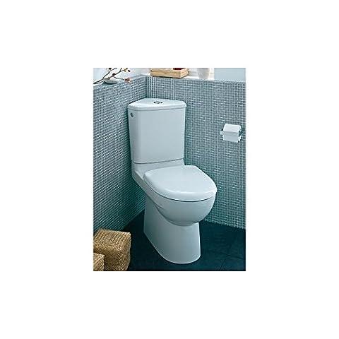 Pack WC d'angle complet PRIMA Compact avec robinet Silenzio, mécanisme double chasse 3/6L, abattant et sortie horizontal